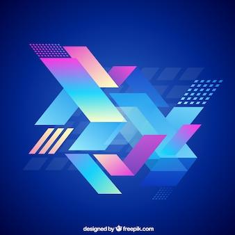 Fundo geométrico abstrato no estilo colorido