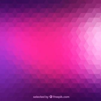 Fundo geométrico em tons de roxo e rosa