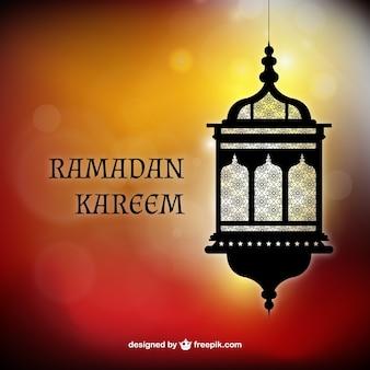Fundo Kareem de Ramadan com uma lanterna árabe