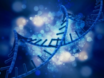 Fundo médico 3D com fita de DNA abstract