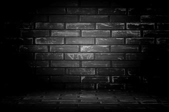 Fundo preto da parede de idade. Textura com fronteiriças ba vinheta preta