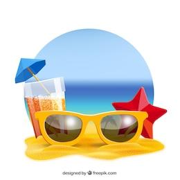 Fundo realista verão