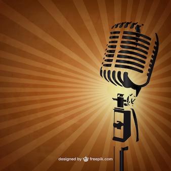 Fundo retro do microfone