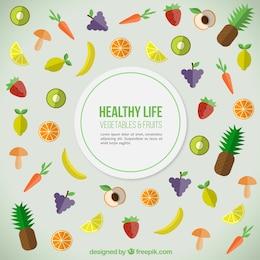Fundo saudável do alimento