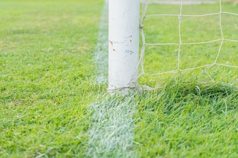 Futebol goal football green grass field