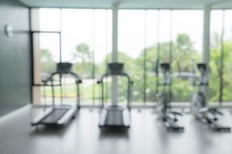 Ginásio e equipamento de fitness borrão abstrato