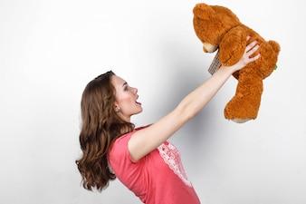 Ginger amor fina sorrindo castanha