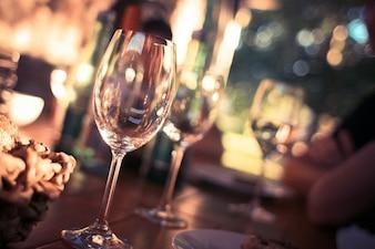 Vidro para a foto vinho
