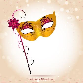 Máscara dourada do carnaval