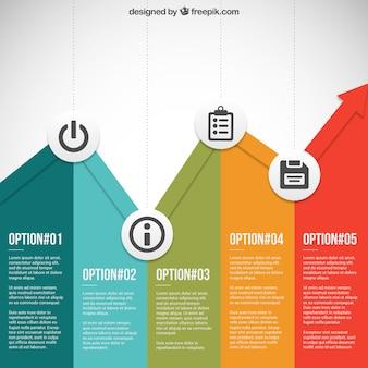 Gráfico de negócio colorido infográfico