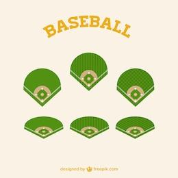 Gráficos campo de beisebol vetor