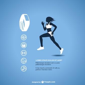 Gráficos vetoriais rastreador de fitness