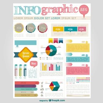 Grande coleção elementos infográfico