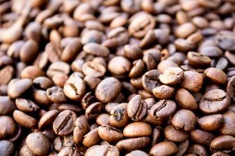 Grãos de café torrados, podem ser usados como um fundo
