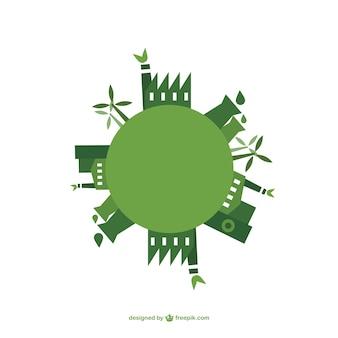 Vector de energia verde Dia da Terra