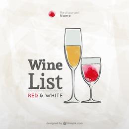 Grunge carta de vinhos vector