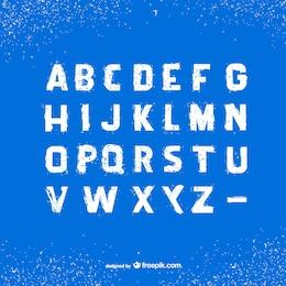 Grunge fonte alfabeto
