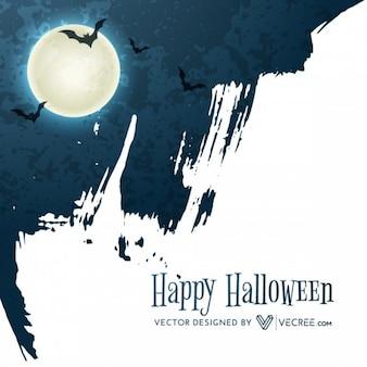 Grunge halloween lua fundo abstrato