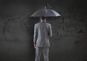 Guarda-chuva internacional concentrada Apontar profissional