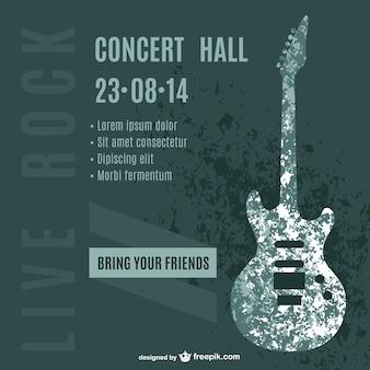 Guitarra cartaz do concerto