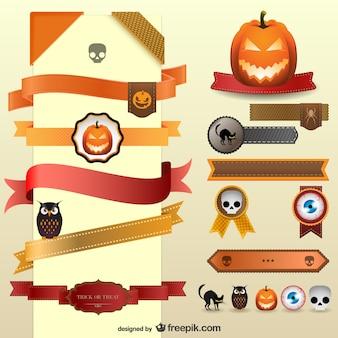 Fitas decoração do vetor de Halloween