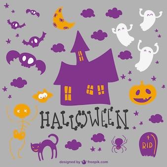 Coleta de elementos de halloween