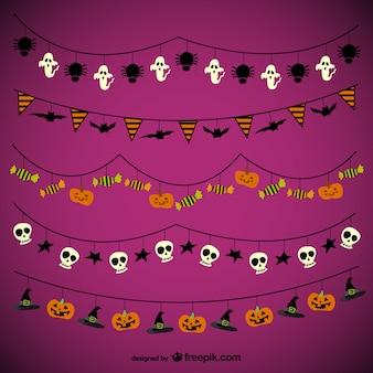 Halloween pacote guirlandas