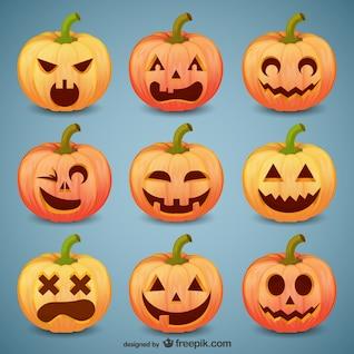 Halloween pacote smileys abóbora