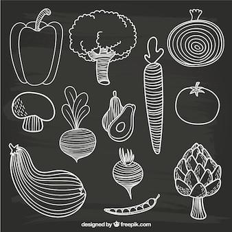 Desenhadas mão vegetais