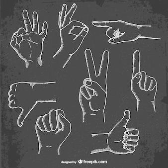 Coleta de gestos com as mãos