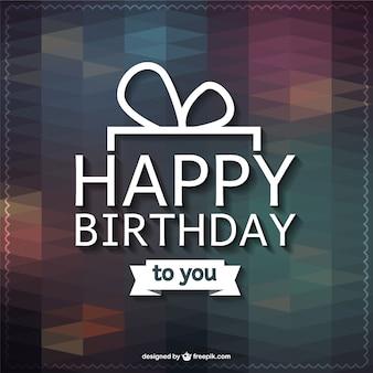 Feliz aniversário lettering cartão