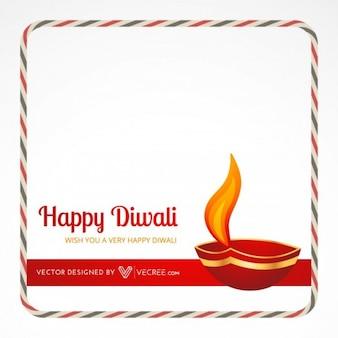 Feliz Diwali Indian festival vector