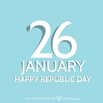 Cartão Dia da República feliz