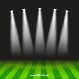 Holofotes futebol estádio vetor