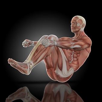 Homem muscular que faz o sit-ups