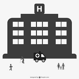 Hospitalar livre gráfico vetorial