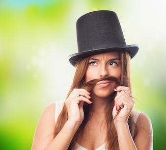 Humor chapéu mulher adulta humor