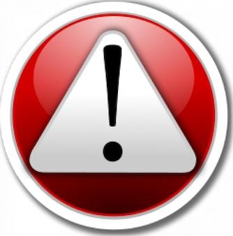 ícone de alerta vermelho