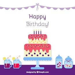 Ícone do bolo de aniversário
