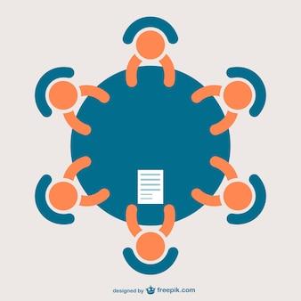 ícone reunião de negócios