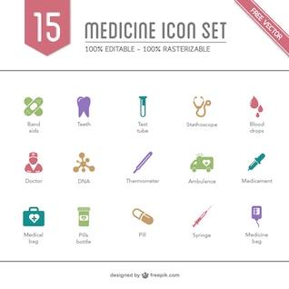 ícones da medicina pacote gratuito