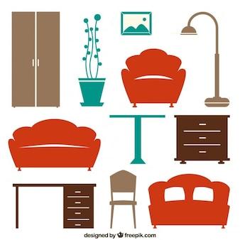 ícones da mobília da casa