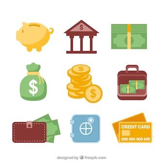 Ícones da operação bancária