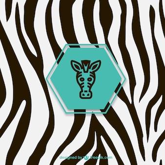 Ícones da zebra etiqueta