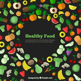 Ícones de alimentos saudáveis