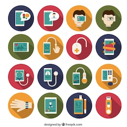 Ícones de instrumentos médicos