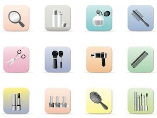 ícones de maquiagem
