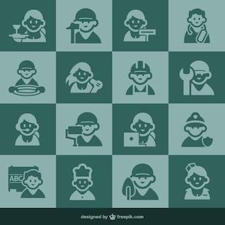 Ícones de ocupação e ícones dos povos
