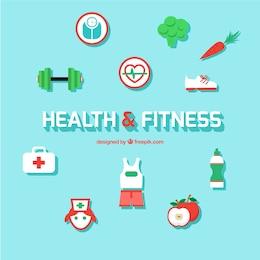 ícones de saúde e fitness