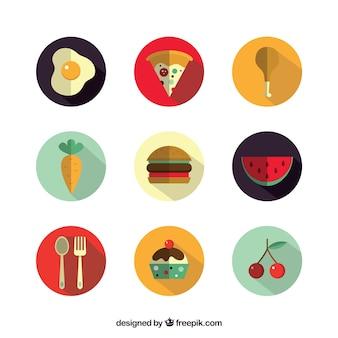 Ícones deliciosa comida